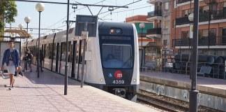 El Metro a su paso por Paterna