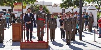 Instante de la celebración del Día de las Fuerzas Armadas en Paterna