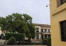 Caámara de vigilancia ubicada en el Ayuntamiento