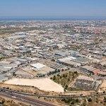 Vista aérea de polígonos del municipio