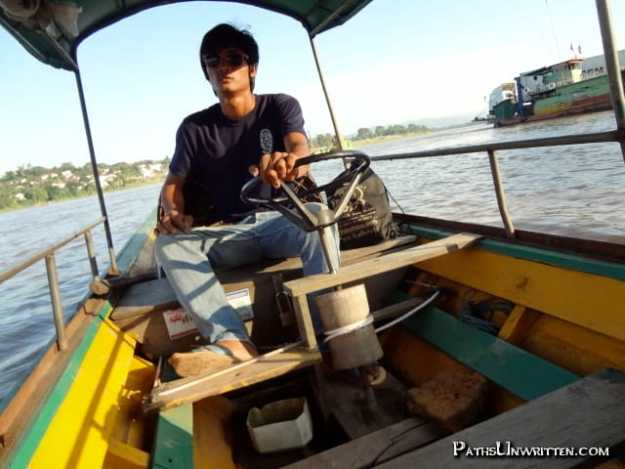 Water - Crossing the Mekong River to Huoay Xai.