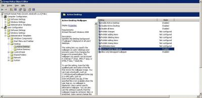 Disabling Wall Paper Through Group Policy | Manish Patil's Blog