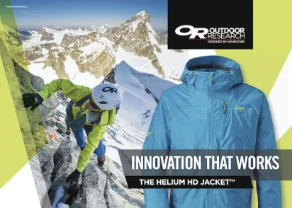 Outdoor Research : Commercial Assignments & Brand Partner