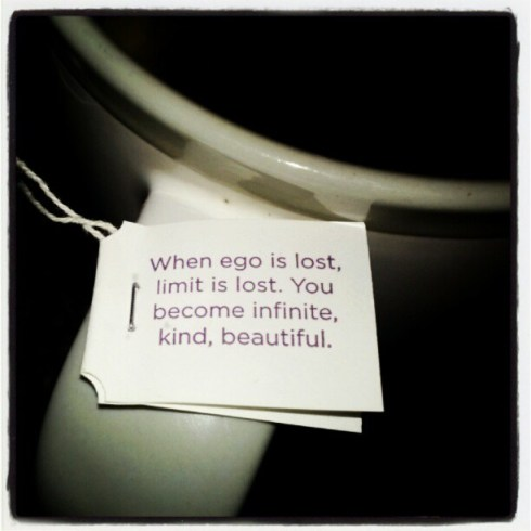 When ego is lost, limit is lost. You become infinite, kind and beautiful.