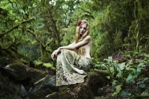 fairy tale forest and woman 12441891_s