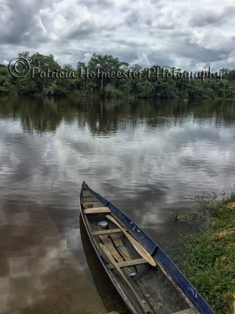 Boat on the Upper Suriname River, Suriname