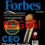 Bogus Magazine Cover Depicts Alleged Ponzi Schemer Charles Scoville Of Traffic Monsoon As 2016's Best CEO