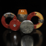 Experiments glazing Bisque Beads