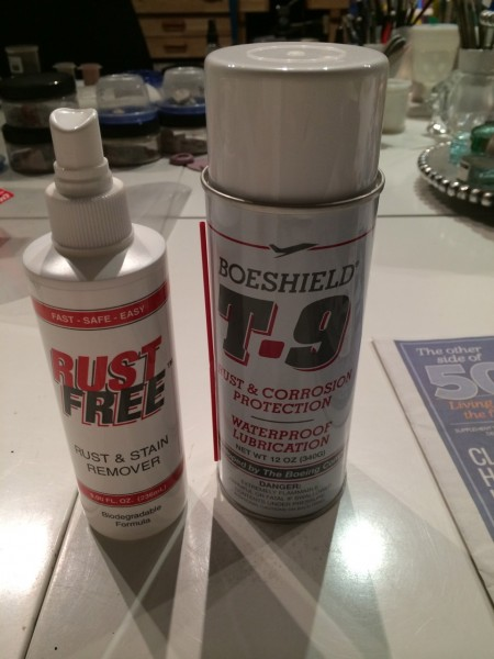 Trying Rust Free and Boeshield by the Boeing Corp