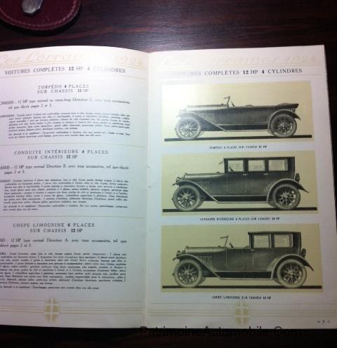 catalogue lorraine dietrich 1924 patrimoineautomobile com. Black Bedroom Furniture Sets. Home Design Ideas