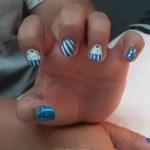 Shoshana nail art shellac
