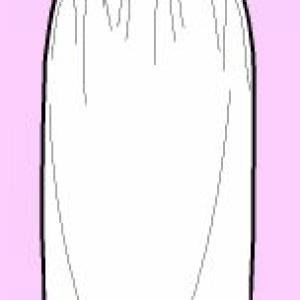 Falda recta cintura elastica