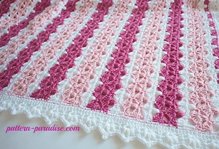 Crochet Stitch Jasmine : Crochet Pattern: Jasmine Baby Blanket Pattern Paradise