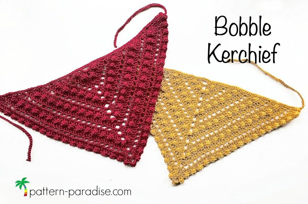 Free Crochet Pattern: Bobble Kerchief