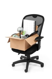Office Chair with a Box of Supplies