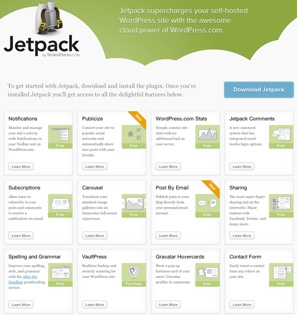 Jetpack2 Jetpack 2.0 for Wordpress brings Facebook & Twitter sharing