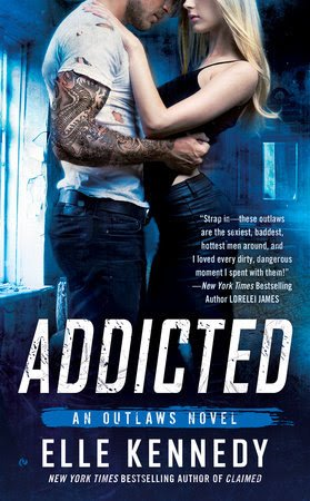 Book Cover, Addicted, by Elle Kennedy