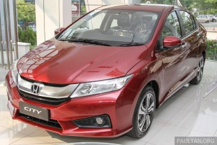 Honda City Dark Ruby Red Pearl 2