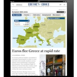 FINANCIAL REVIEW APP for iPad - Interactive Map