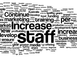 A wordcloud of the Sydney Business Awards winners entries