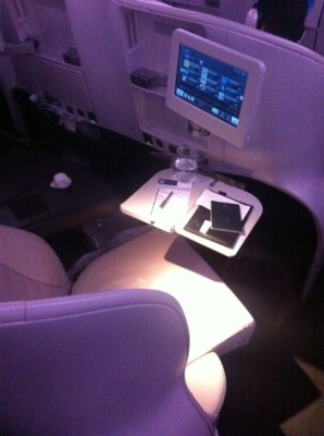 Air New Zealand Premium Economy seat with setup