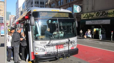 38R Muni Bus at Union Square