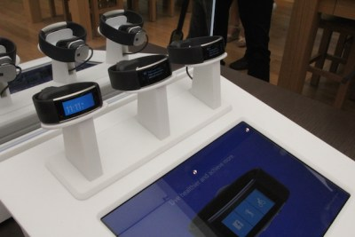 Microsoft Band 2 wearables on display