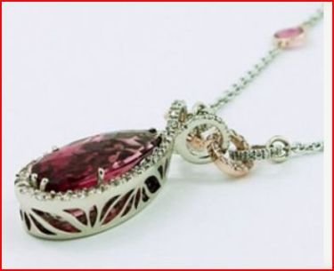 Pink Tourmaline Necklace