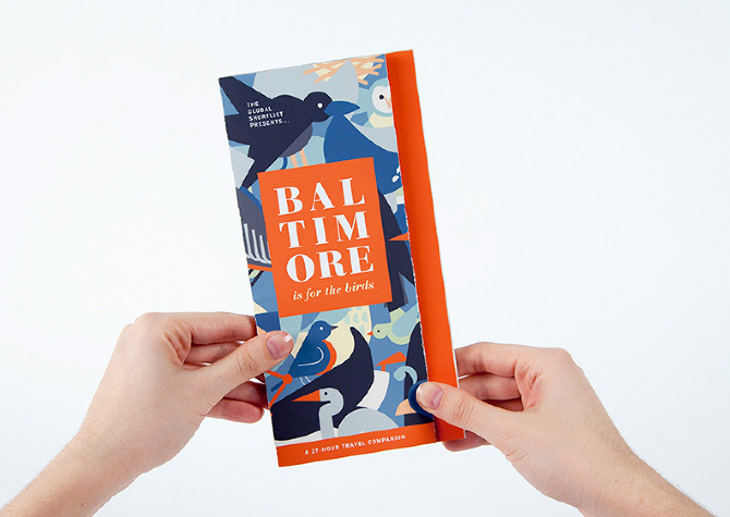 Baltimore City Guide   Jackie Littman    Design Portfolio Bird themed travel guide with original vector illustrations