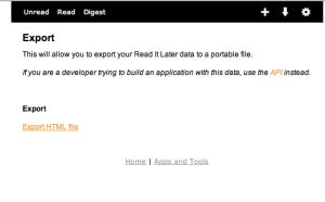 Wordpress Export zur Link-Liste