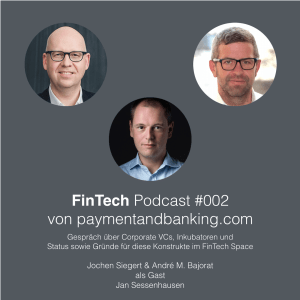 FinTech Podcast #002 – Corporate VCs und Inkubatoren im FinTech Space