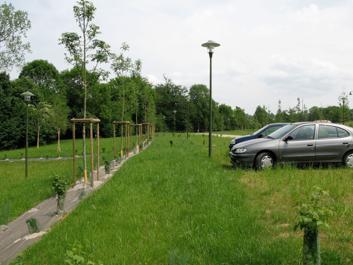 Stationnement enherbé - parking végétalisé