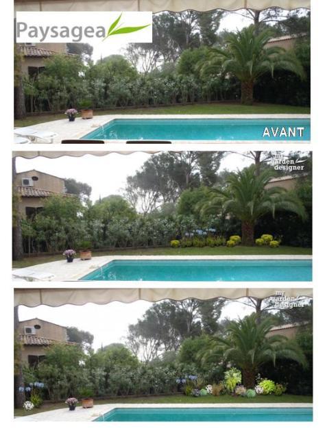 aménagement paysager piscine