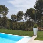 Jardin contemporain méditerranéen.