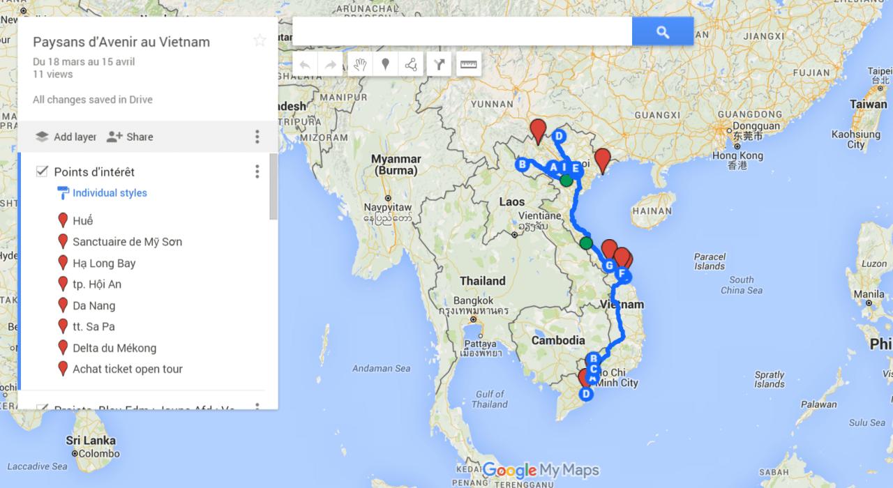 chemin de route Vietnam