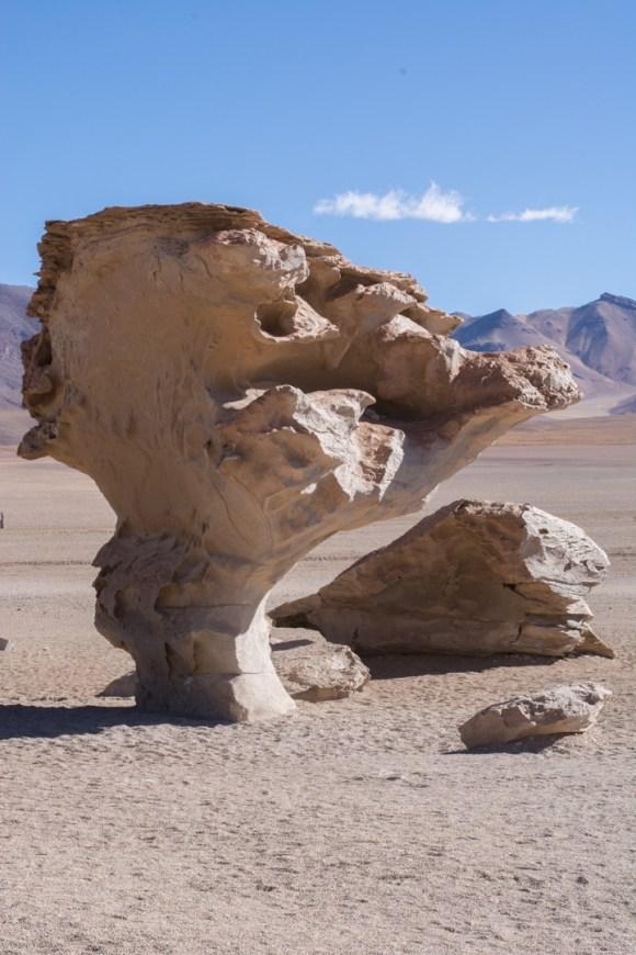 Uyuni - Des roches érodées par le vent