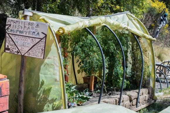 Une serre à tomates du jardin maraicher