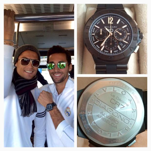 B4pYh8FIMAAtX2y Cristiano Ronaldo bought every Real Madrid teammate a watch worth over £8,000 to commemorate La Decima
