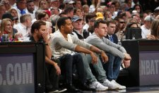 Johnny Manziel Chilling Courtside At the Cavs Game