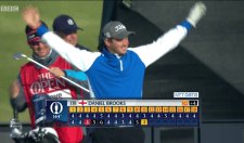 Daniel Brooks Sinks Hole In One Despite Wind At St. Andrews