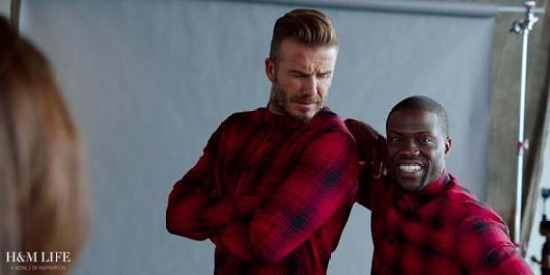 Man United legend David Beckham stars in hilarious ad with comedian Kevin Hart (Video)