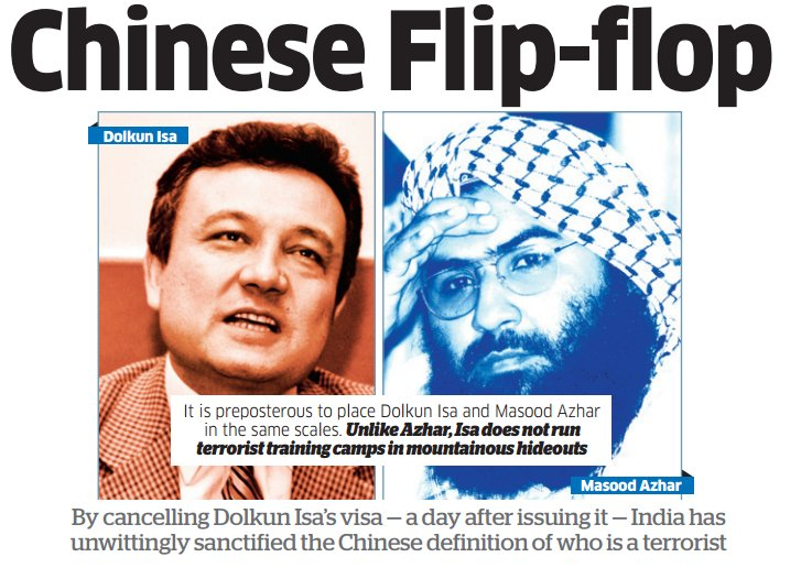 Image result for china's flip on MASOOD AZHAR AND DOLKUN ISA