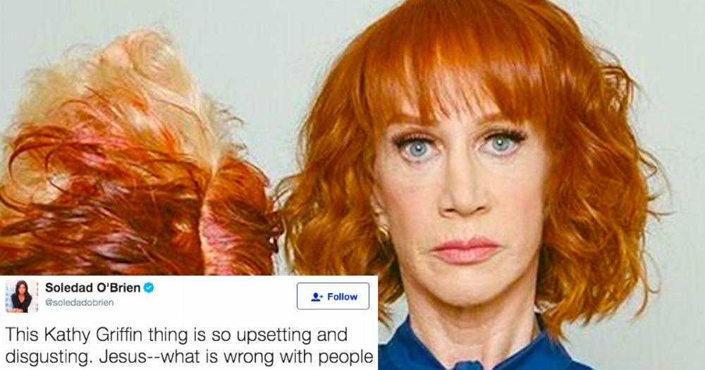 Did kathy griffin go too far with gory photos of donald trump s     Did kathy griffin go too far with gory photos of donald trump s   decapitated  head    scoopnest com