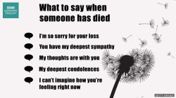 Small Of What To Say When Someone Dies