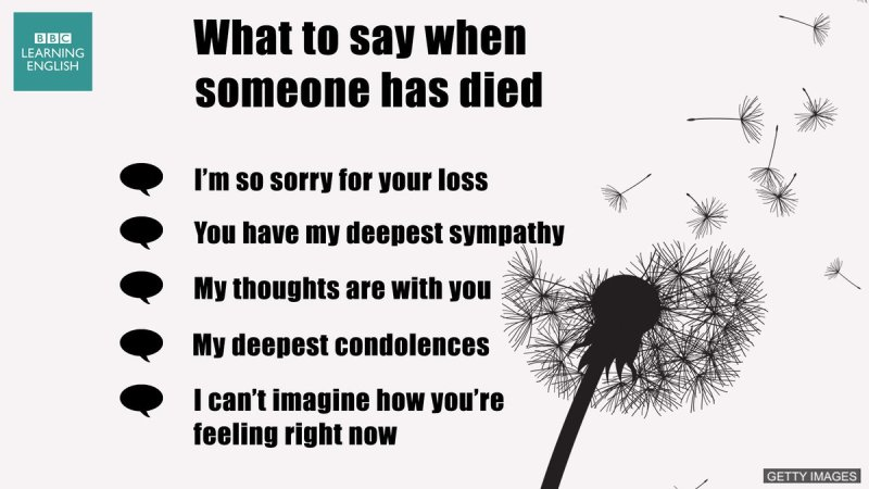 Large Of What To Say When Someone Dies