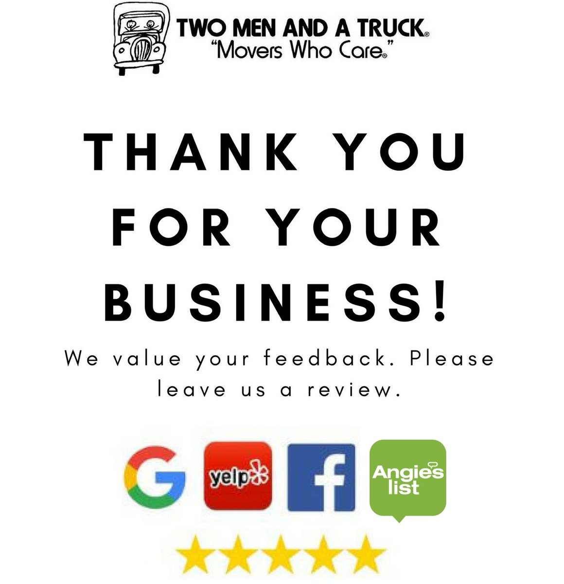 Fullsize Of We Appreciate Your Business