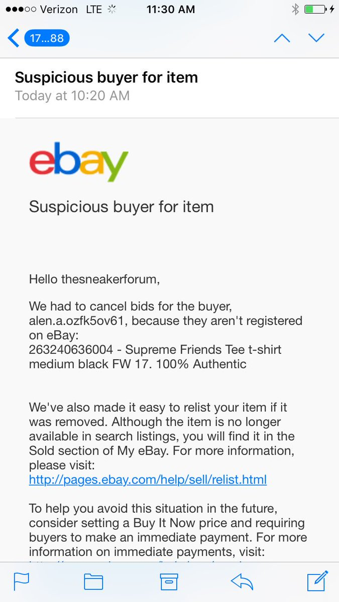 Distinguished Sneaker Forum On Not Ship Copper Drive Newport Ebay Buyers Tried Scamming Me Twice This Week Withthis Sneaker Forum On Not Ship Copper Drive How To Cancel An Ebay Bid On Iphone How To Ca dpreview How To Cancel An Ebay Bid
