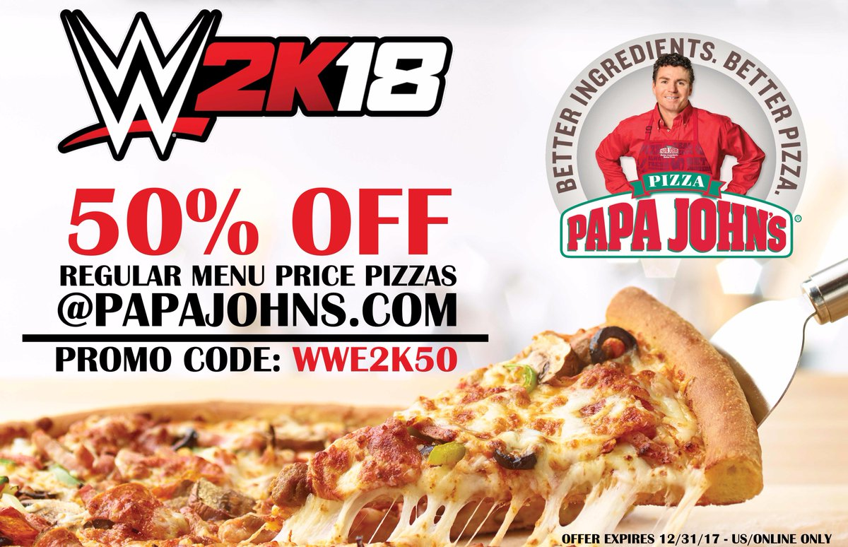 Peculiar Wwe On Off Pizza From Use Promo Code Below At Wwe On Off Pizza From 50 Cent Pizza Papa Johns nice food Papa Johns 50 Cent Pizza