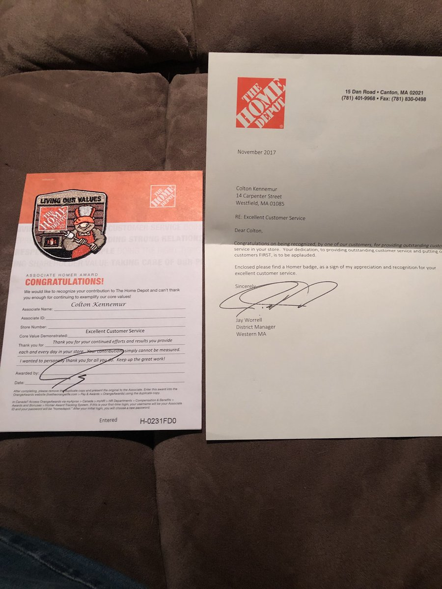 Upscale Work Thank You Jay I Ly Appreciated Coming Home To Colton Kennemur On Out Receiving A Home Depot Westfield Ma Jobs Home Depot 50 Campanelli Drive Westfield Ma houzz-03 Home Depot Westfield Ma