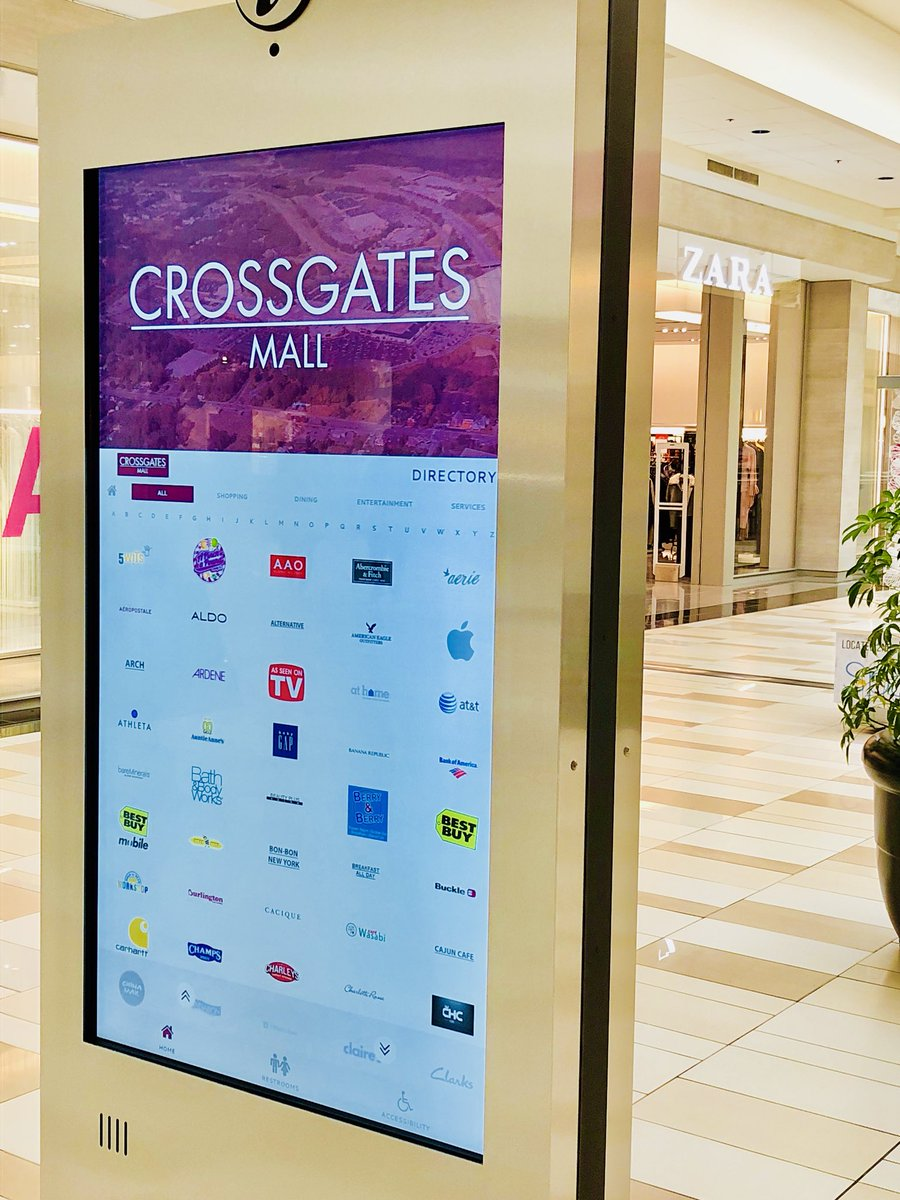 Clever Crossgates Mall On Digital Directories Have Arrived Making It Easier Faster To Find What Looking Crossgates Mall On Digital Directories Have Arrived baby Crossgates Mall Stores